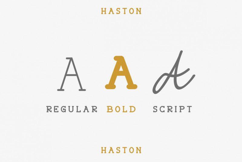 Haston Classic Font Duo-2