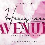 Honeymoon Avenue Script Font