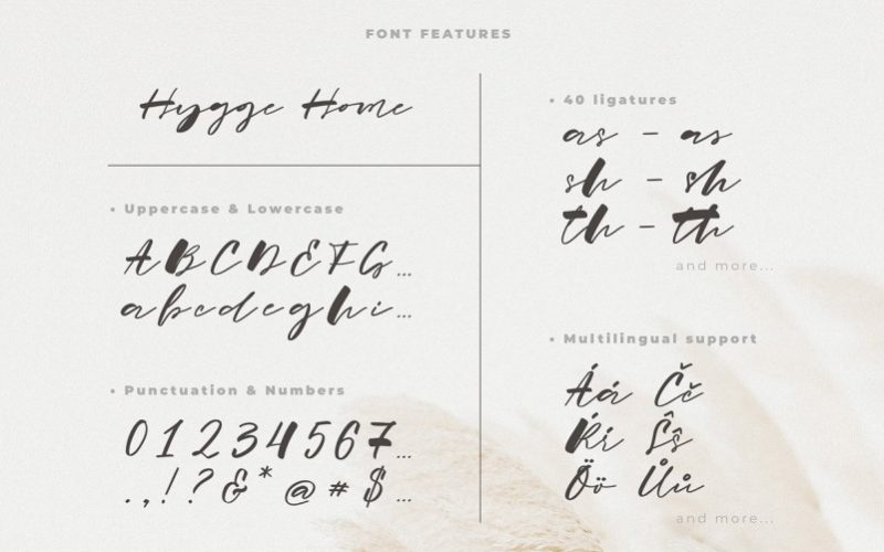 Hygge Home Brush Font-3