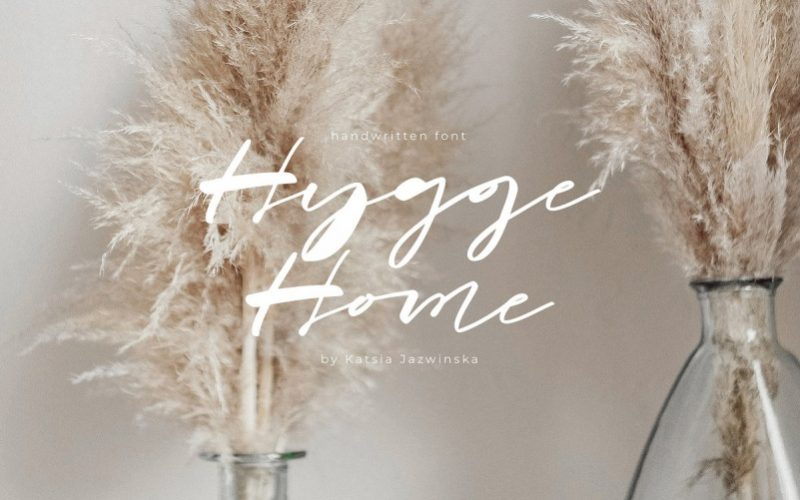 Hygge Home Brush Font