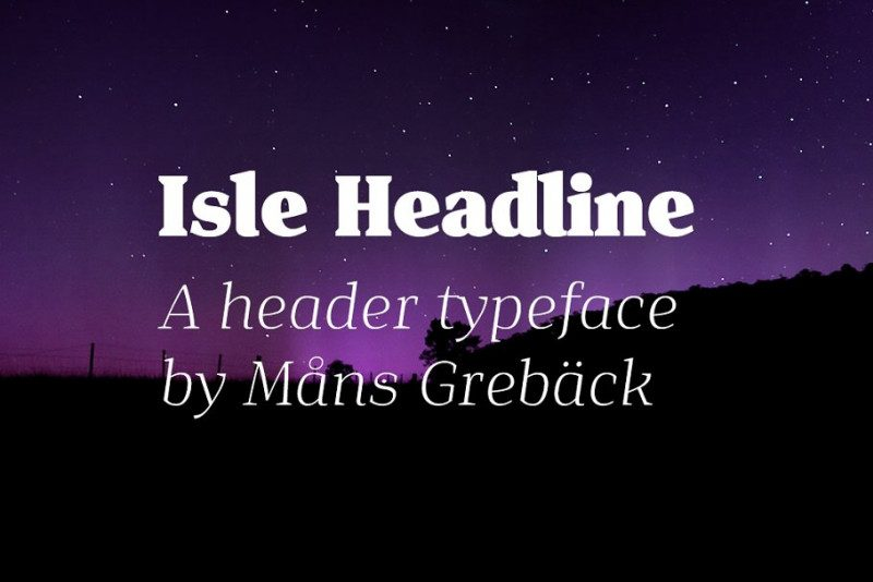 Isle Headline Font Family