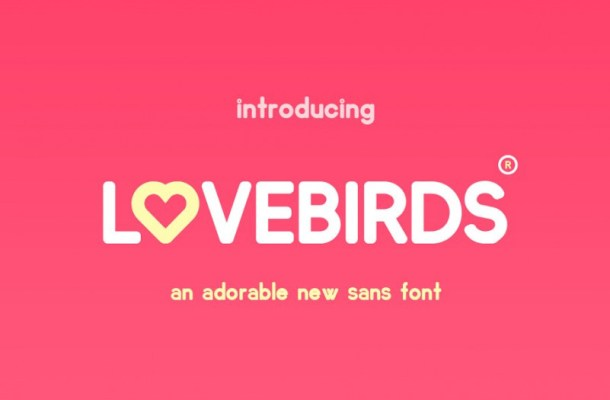 Lovebirds Sans Font