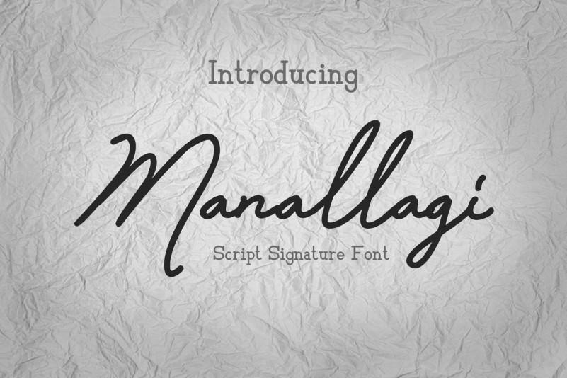 Manallagi Script Font