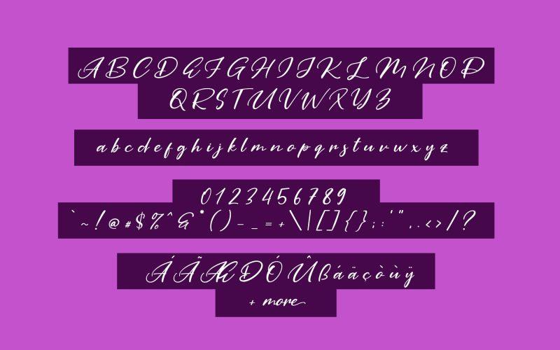 Purple Pen Script Font-2