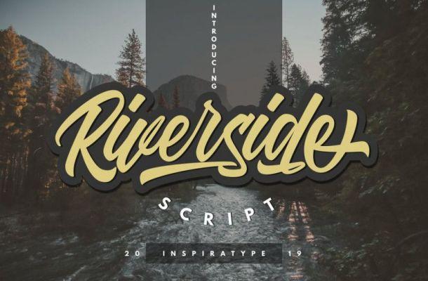 Riverside Script Font