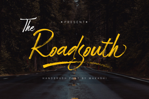 Roadsouth Brush Font