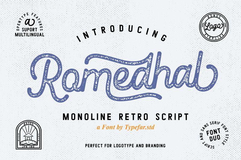 Romedhal Script Font - Dafont Free