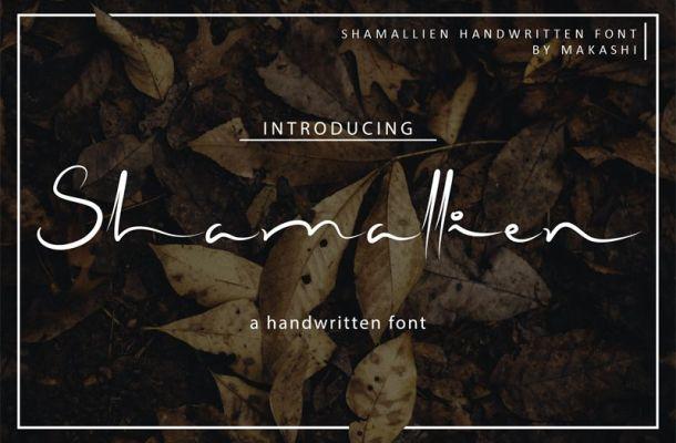 Shamallien Handwritten Font