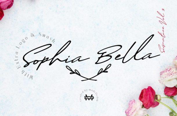 Sophia Bella Signature Font