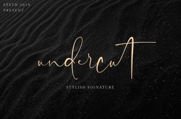 Undercut Signature Font