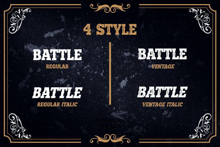Battle Road Typeface-2