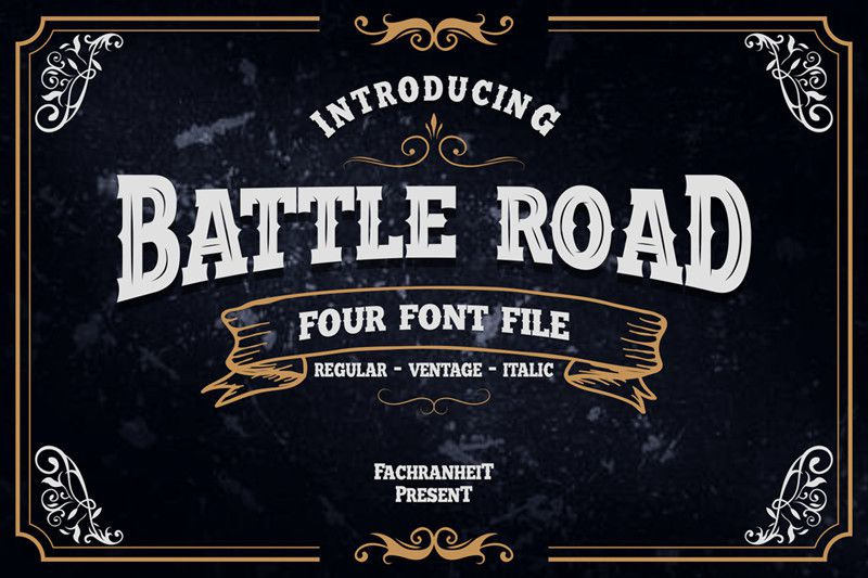 Battle Road Typeface