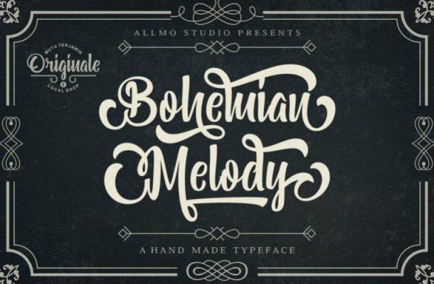 Bohemian Melody Calligraphy Font