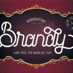 Brandy Monoline Font Duo
