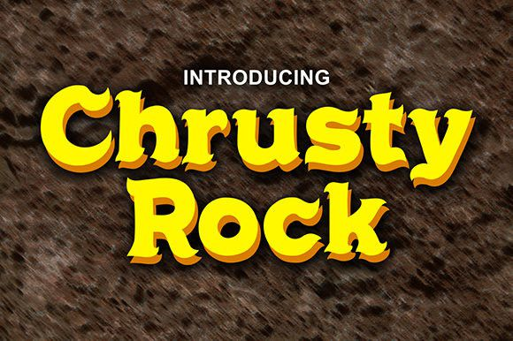 Chrusty Rock Display Font