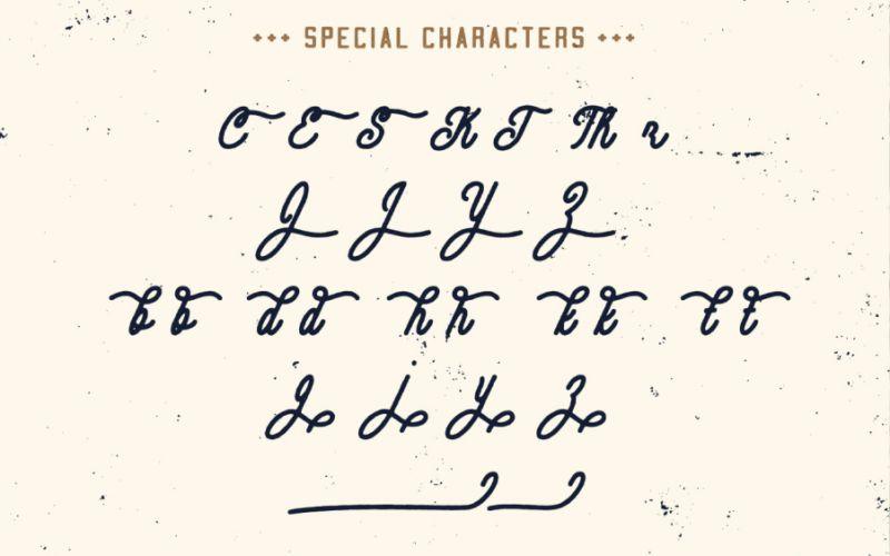 Contraband Monoline Script Font-2