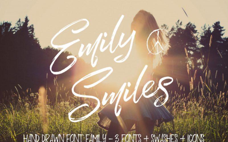Emily Smiles Brush Font