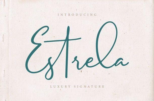 Estrela Luxury Signature Font