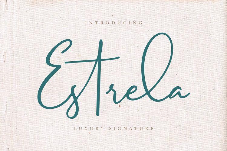 Estrela Luxury Signature Font-1