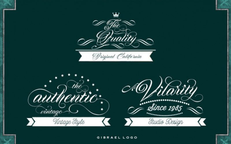 Gibrael Calligraphy Font-3