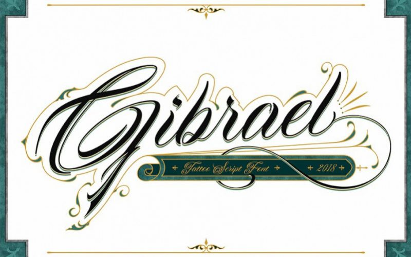 Gibrael Calligraphy Font