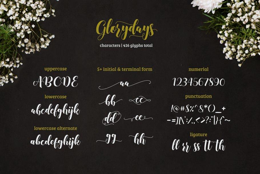 Glorydays Cursive Font-2