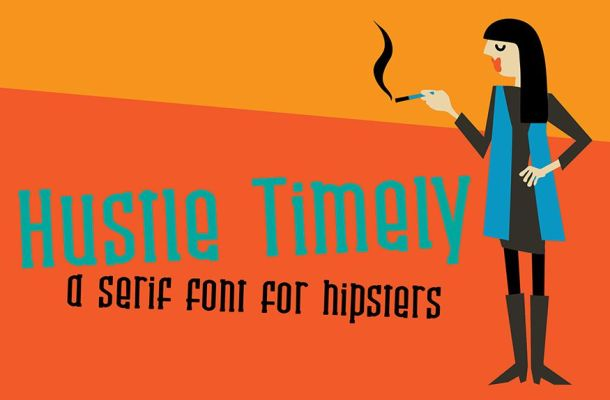 Hustle Timely Font