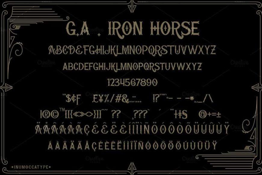Iron Horse Font-3