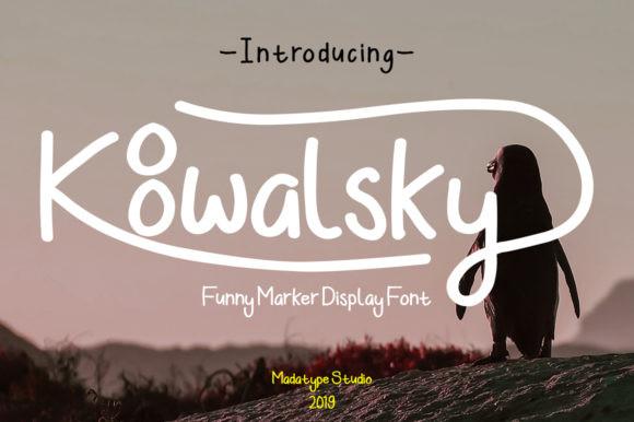 Koowalsky Handwritten Font