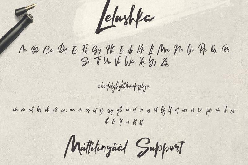 Lelushka Script Font-3