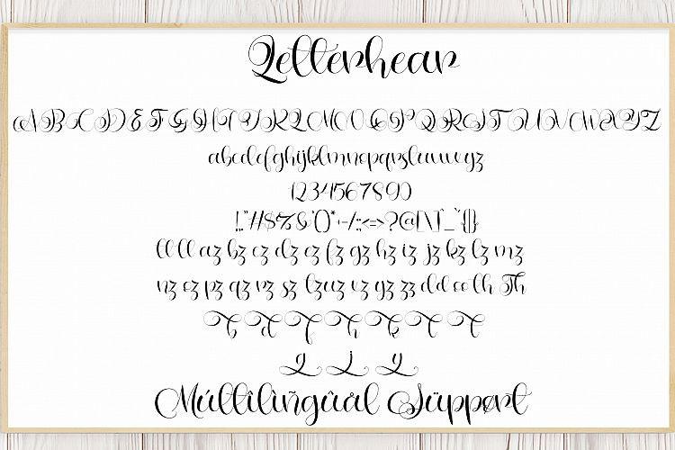 Letterhear Calligraphy Font-3