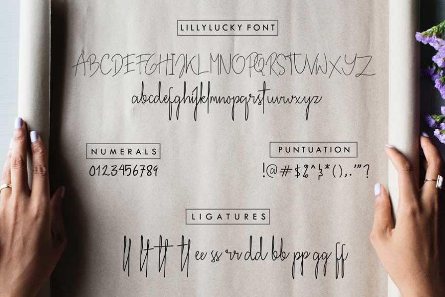 Lillylucky Font-3