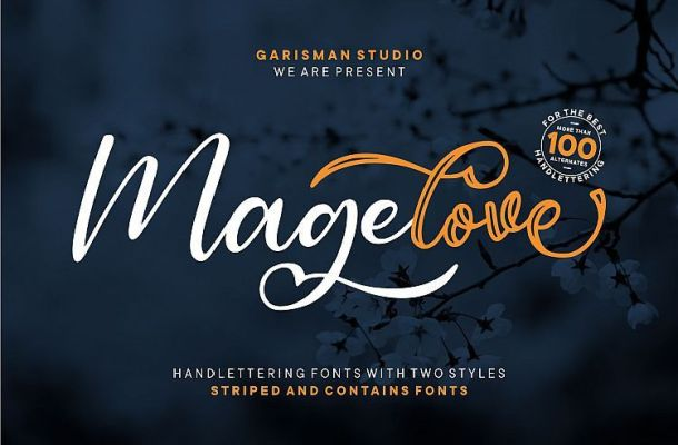 Magelove Handlettering Font