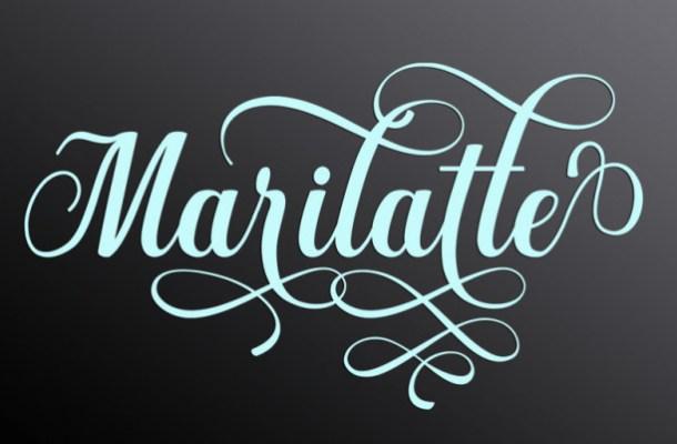 Marilatte Calligraphy Font