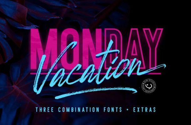 Monday Vacation Font Duo