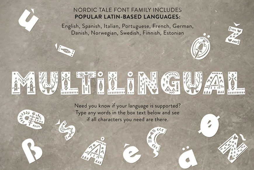 Nordic Tale Font Family-2