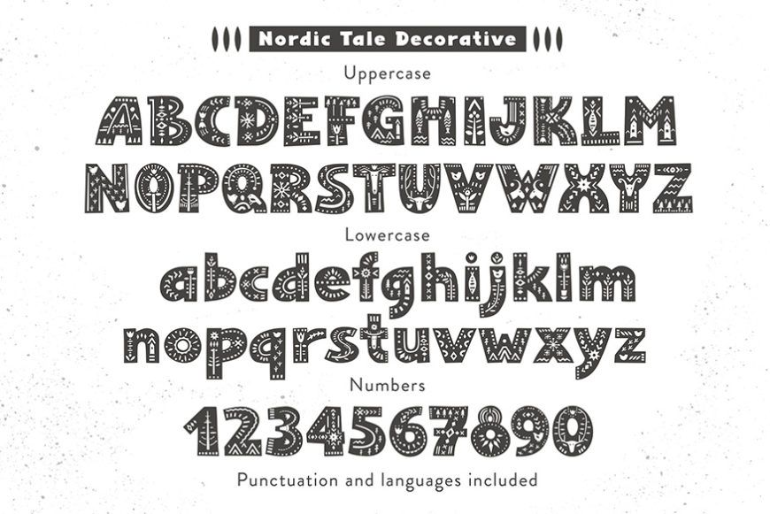 Nordic Tale Font Family-3