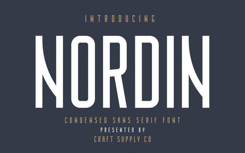 Nordin Condensed Sans Font