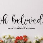 Oh Beloved Calligraphy Font