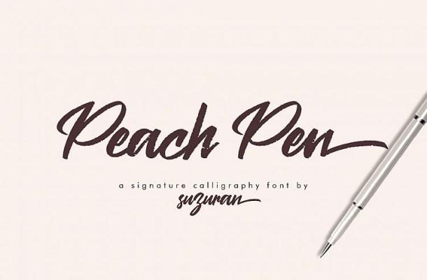 Peach Pen Calligraphy Font