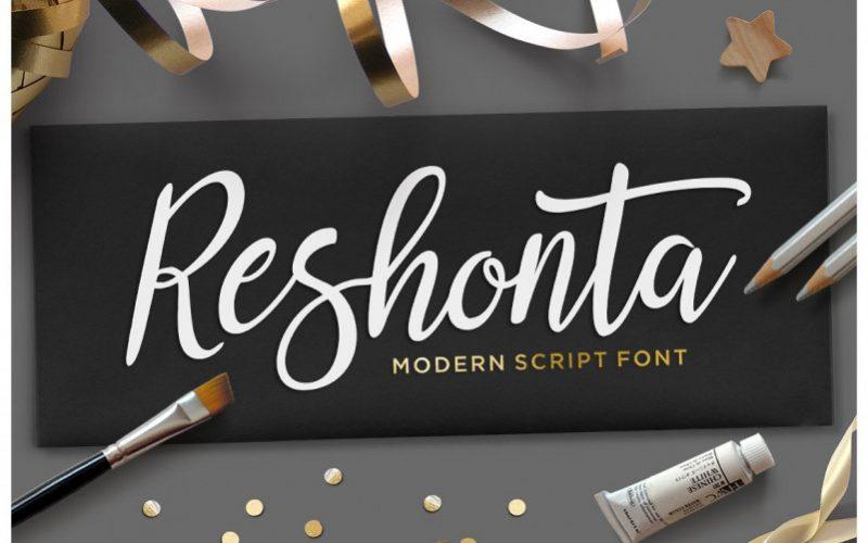 Reshonta Calligraphy Font