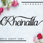 Rheinalita Calligraphy Font