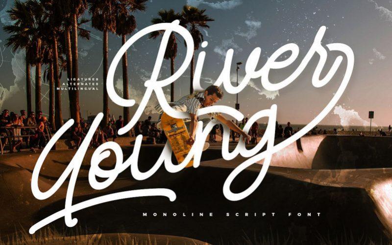 River Young Monoline Script Font