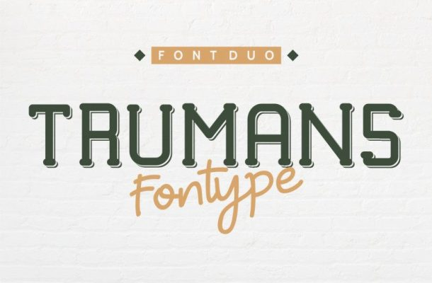 TRUMANS Duo Font Family