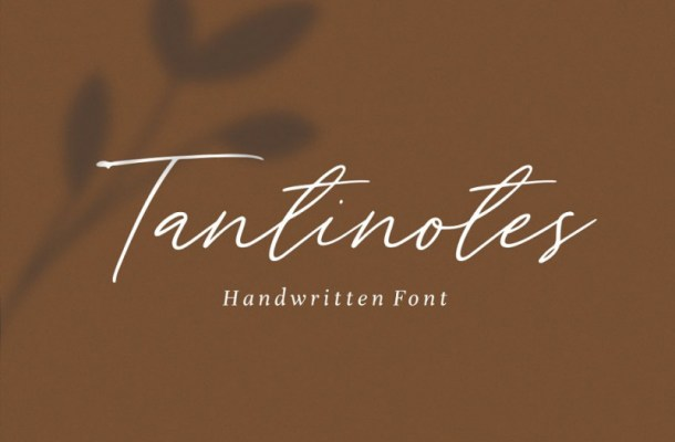Tantinotes Handwritten Font