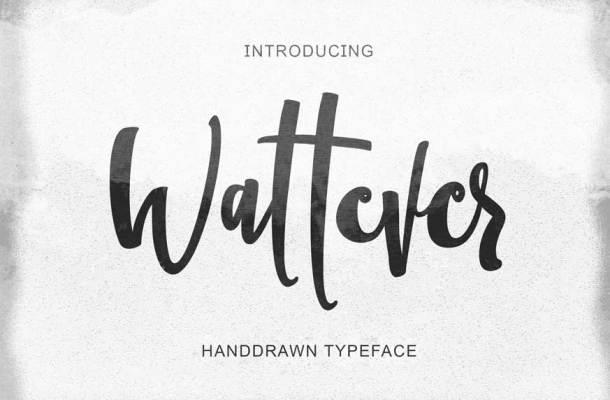 Wattever Handdrawn Typeface
