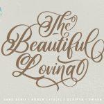 Lovina Calligraphy Font