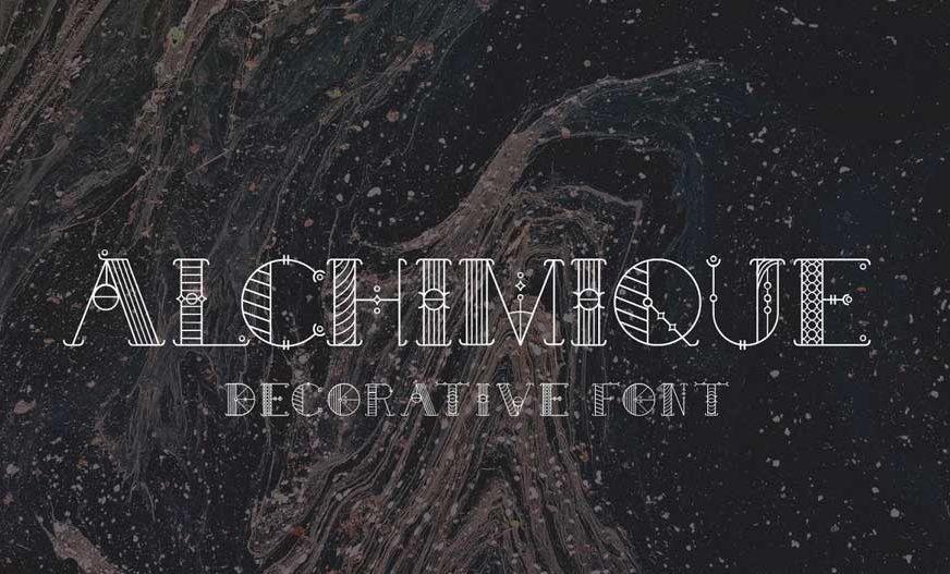 Alchimique Decorative Font-1