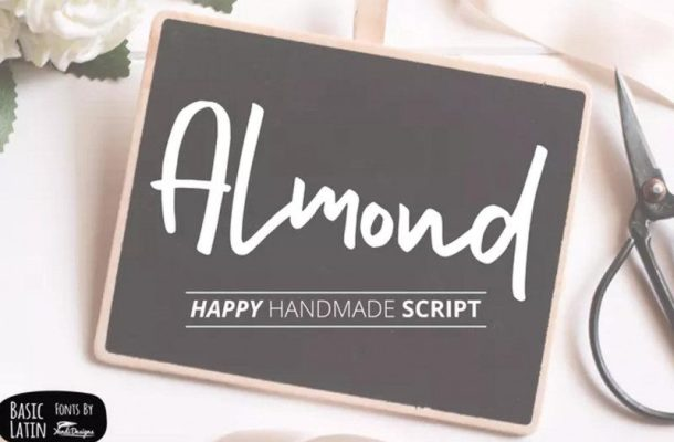 Almond Hand Lettering Script Font