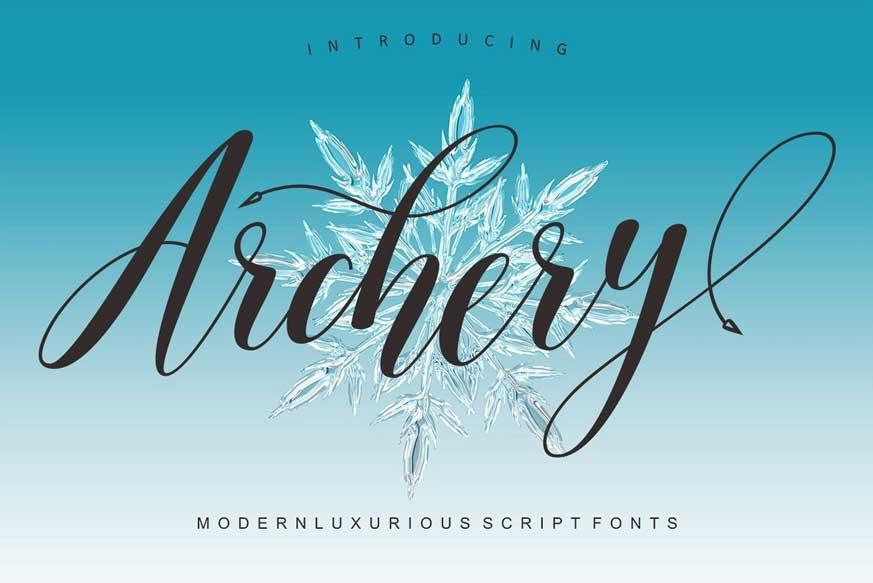 Archery Script Font-1